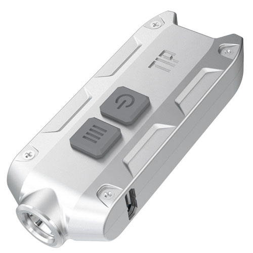 Tip 360 Lumen Keychain Flashlight - Silver