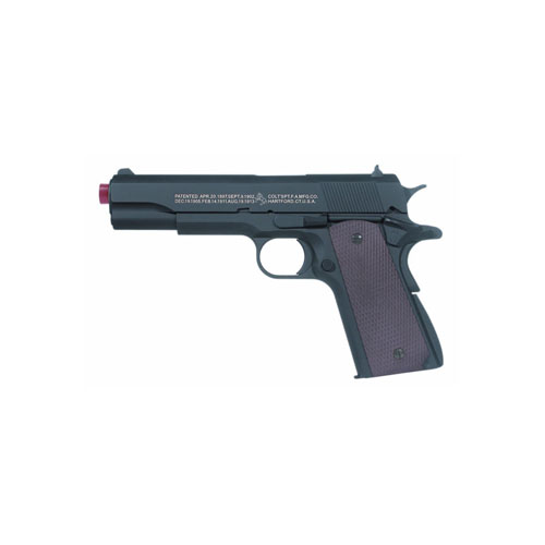 Colt 1911 Black Brown BAX Spin-up Clam Full Metal Body Gun