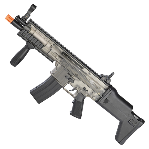 FN Herstal SCAR-L Spring Airsoft Rifle Clear