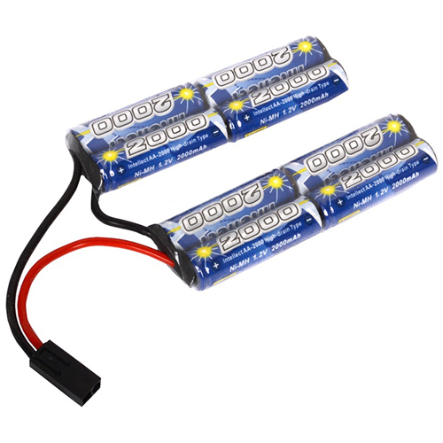 9.6V- 2000 mAh Double Twin Battery