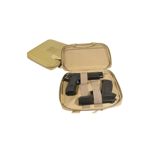 Swiss Arms Two Pistol Soft Case With Tan Carry Handle