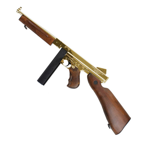 King Arms M1A1 HI Grade Gold Thompson Airsoft Rifle