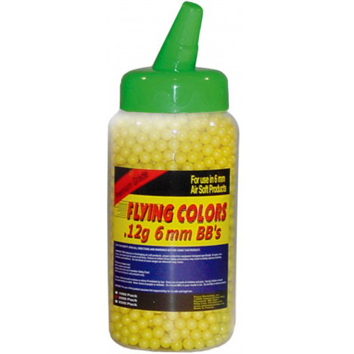Flying Colors .12g Yellow Airsoft BBs - 2000ct