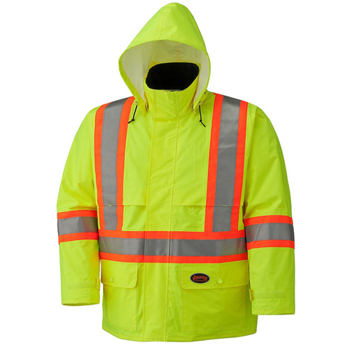 Pioneer Hi-Viz Safety Jacket with Detachable Hood