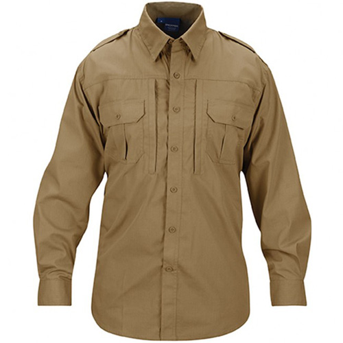 Men's Long Sleeve Polycotton Ripstop Tactical Shirt