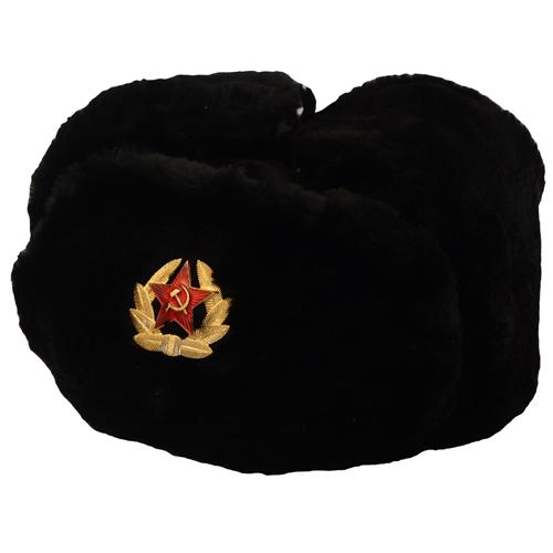 Russian Trooper Winter Hat - Black