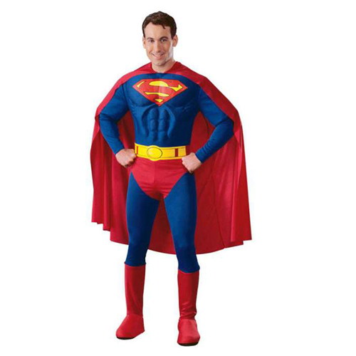 Rubies Deluxe Muscle Chest Superman Costumes
