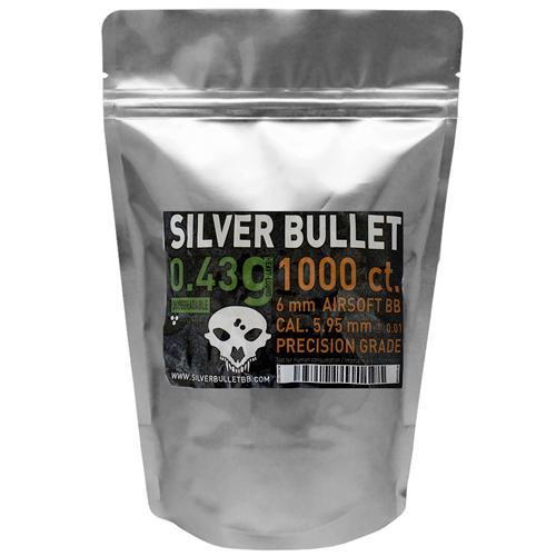 Silver Bullet .43g Bio Airsoft BBs - 1000ct