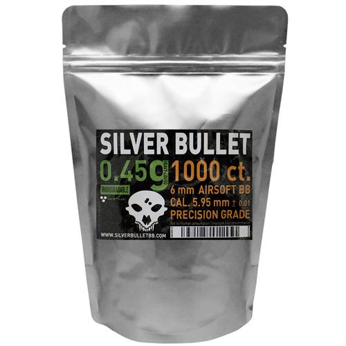 Silver Bullet .45g Bio Airsoft BBs - 1000ct.
