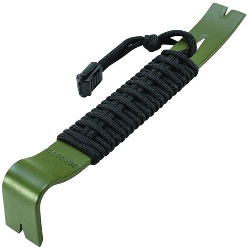 Olive Drab Green Paracord Wrapped Pry Bar