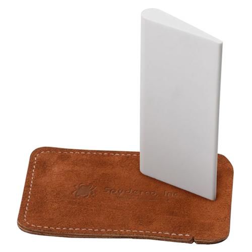 Slip Stone 2 x 4 Inch Teardrop-Shaped Sharpener w/ Leather Case