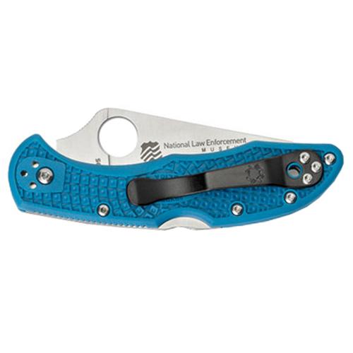 Spyderco Delica Lightweight Blue FRN Handle Folding Knife
