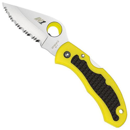 Spyderco Snap-It Serrated Edge C26SYL Folding Knife