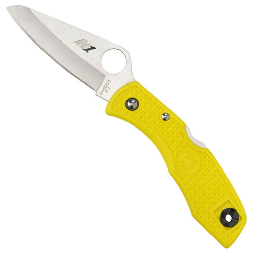 Spyderco Salt Yellow FRN H-1 Plain Edge Folding Knife