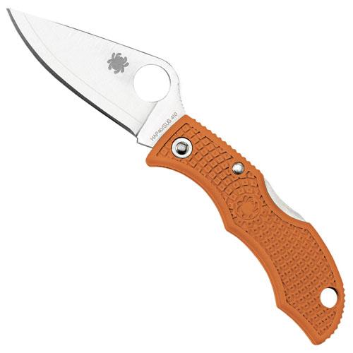 Spyderco Ladybug 3 Key Ring Burnt Orange Folding Knife