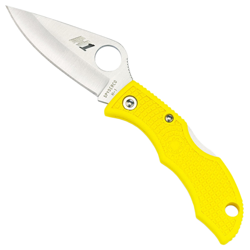 Ladybug3 Yellow FRN H-1 Plain Edge Folding Knife