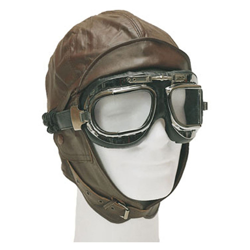 New German Repro Leather Aviation Helmet