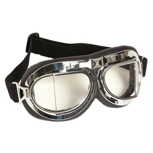 British RAF Style Chrome Aviator Goggles