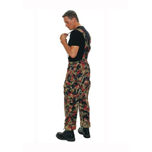 Swiss M70 Camo Filed Pants with Suspenders Used