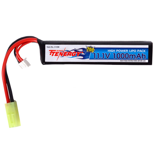 11.1V 1000mAh 20C Stick Style LiPo AEG Battery