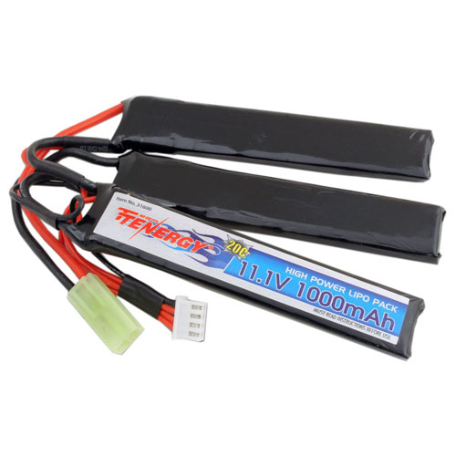 11.1V 1000mAh 20C Crane Style LiPo Airsoft Battery