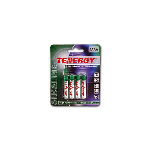 Tenergy Alkaline AAA Batteries - 4 Pack