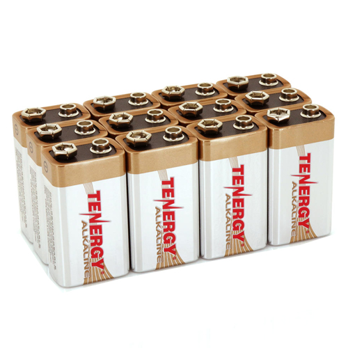 Tenergy Alkaline 9v Batteries - 12 Pack