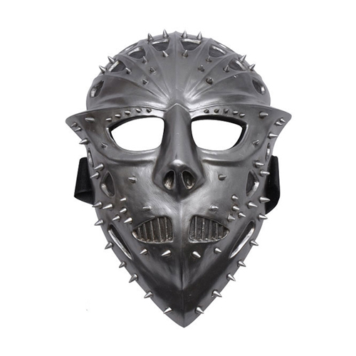 Jason Voorheas Silver Spiked Face Mask