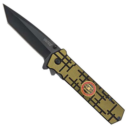 United Cutlery Green Marine Recon Assist Folding Knife