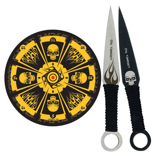 Throwing Knife Set With Knives And Hanging Target