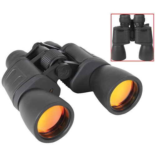 8-24 X 50MM Zoom Black Binocular