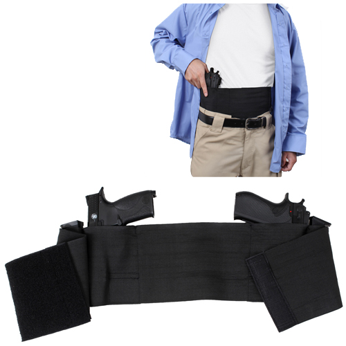 Ambidextrous Concealed Elastic Belly Band Holster