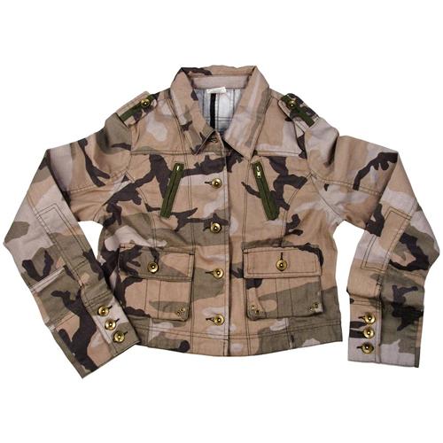 Ultra Force Womens Subdued Woodland Camo Vintage Jacket