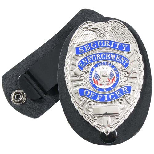 Swivel Snap Leather Clip-On Badge Holder