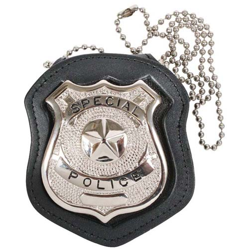 NYPD Style Leather Badge Holder With Clip