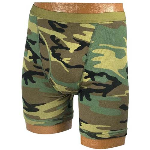 Mens Camo Boxer Briefs