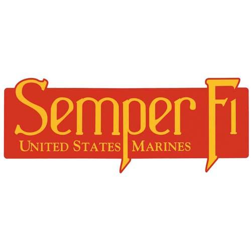 U.S.M.C. Semper Fi Bumper Sticker