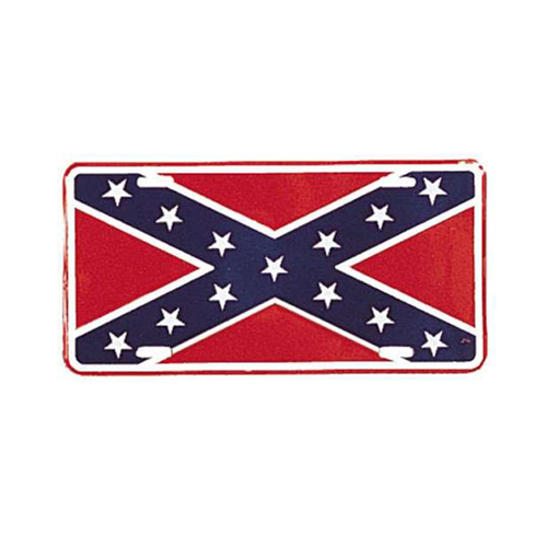 License Plate - Rebel Flag