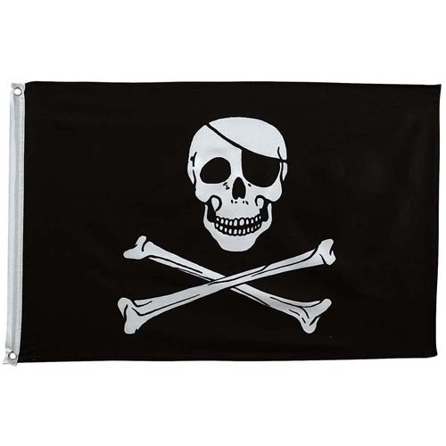 Jolly Roger 2 Feet X 3 Feet Flag