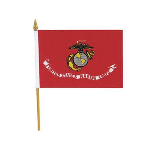 USMC Mini 4 Inch X 6 Inch American Flag