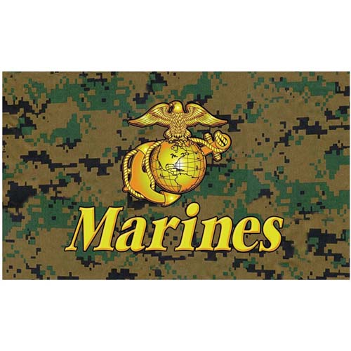 Digital Camo Marines Flag