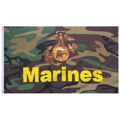 Camo Marines Flag