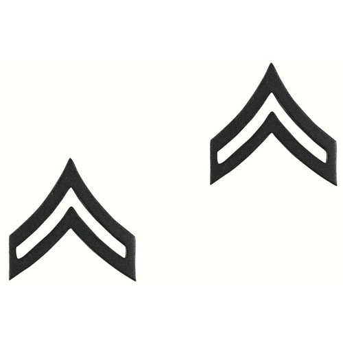 Corporal Polished Insignia