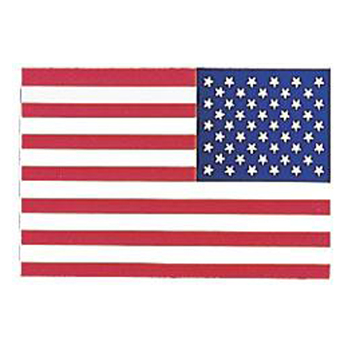 US Flag Back Gum Decal