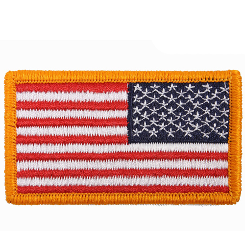 Iron On  Sew On Embroidered US Reverse Flag Patch