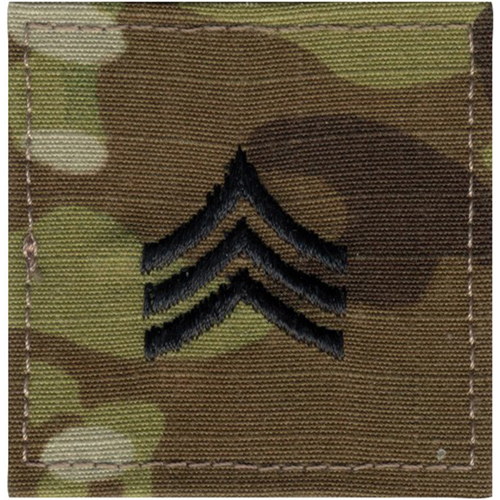 U.S. Made Embroidered Rank Insignia - Sergeant