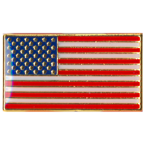 Classic Rectangular US Flag Pin