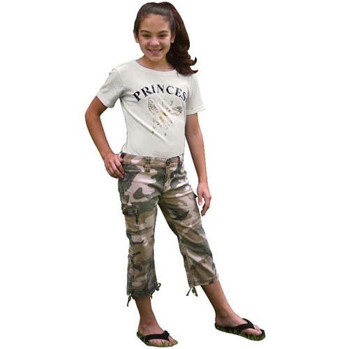 Girls Vintage Capri Pants