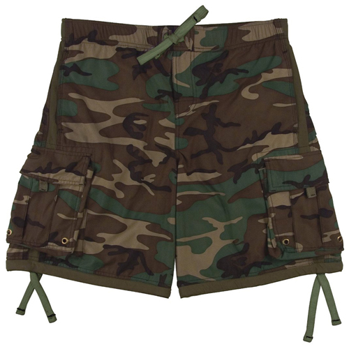 Elastic Waistband Swim Trunks