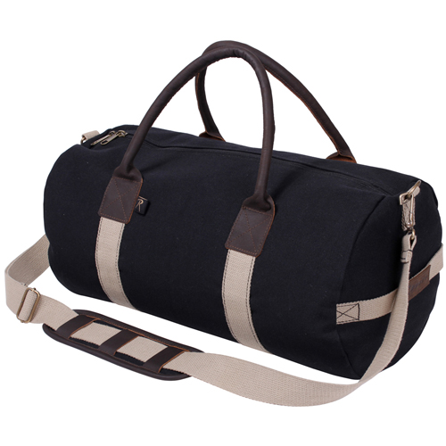 19 Inch Canvas And Leather Gym Bag